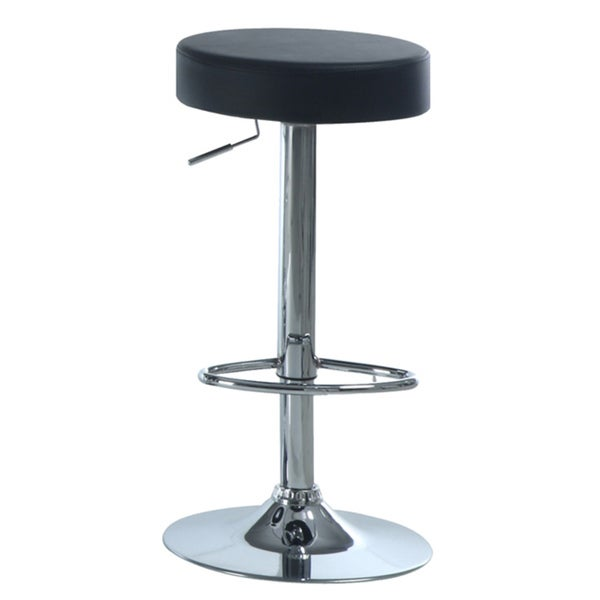 Black/ Chrome Metal Hydralic Lift Barstools (Set of 2)