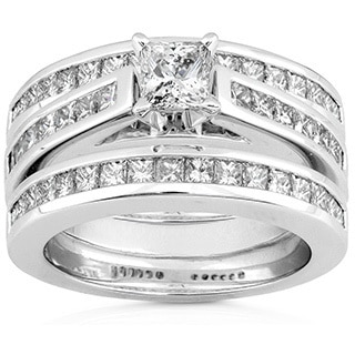 Annello by Kobelli 14k Gold 2ct TDW Diamond 3-piece Bridal Ring Set (H-I, I1-I2)