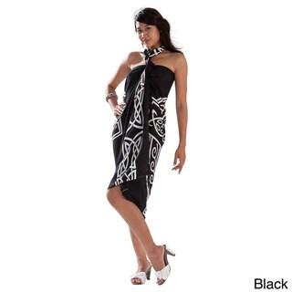 Handmade 1 World Sarongs Women's Black Celtic Cross Sarong (Indonesia)