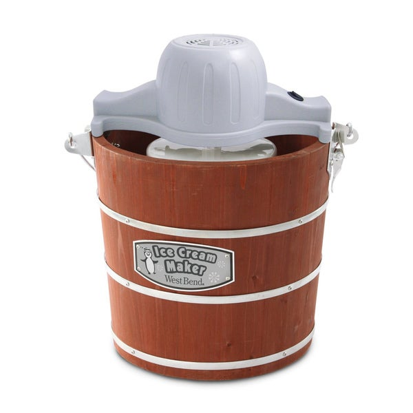 West Bend ICI2701 Brown/ Wooden Wood/ Aluminum Ice Cream Maker
