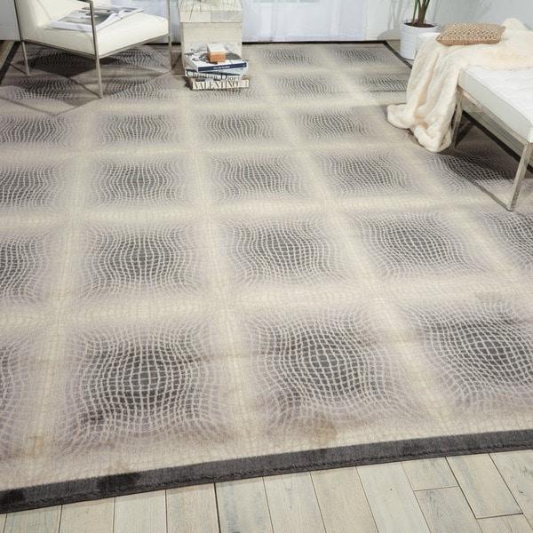 Nourison Utopia Ivory Indoor Abstract Rug - 9'6 x 13'