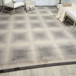 "Nourison Utopia Ivory Indoor Abstract Rug (9'6"" x 13')"