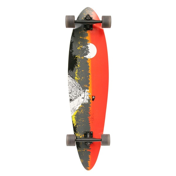 Quest 2012 Classic-style Pintail Longboard Skateboard with Wheel Wells