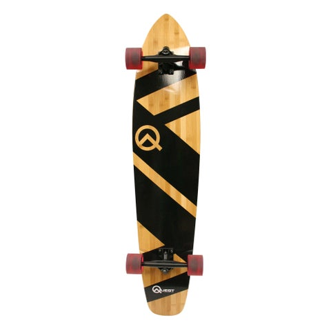 Quest Super Cruiser Yellow Wood Longboard