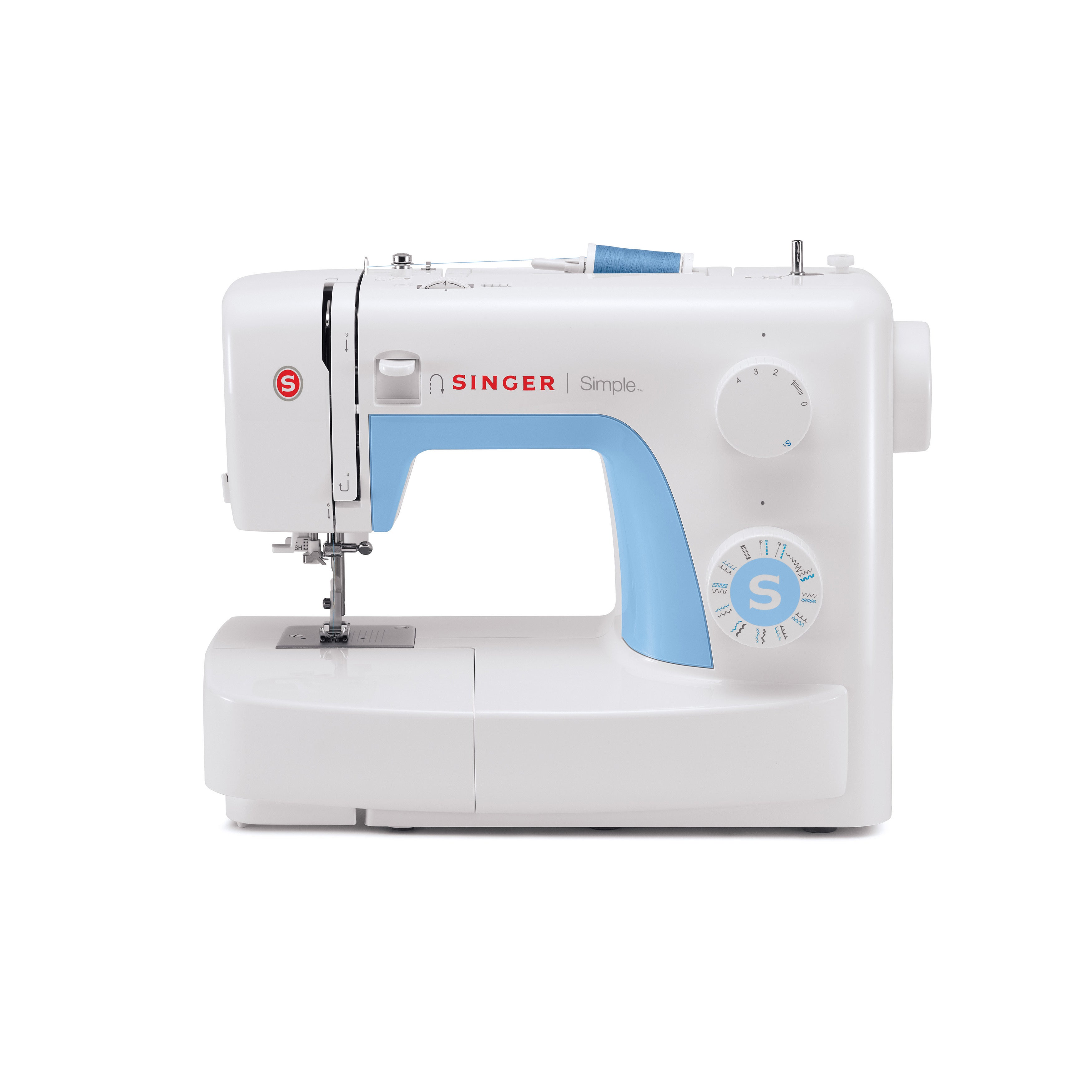 SINGER SEWING CO. 3221 Simple Sewing Machine, White (Plas...