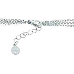 Eternally Haute Stainless Steel 3-row Disc Necklace - Thumbnail 1