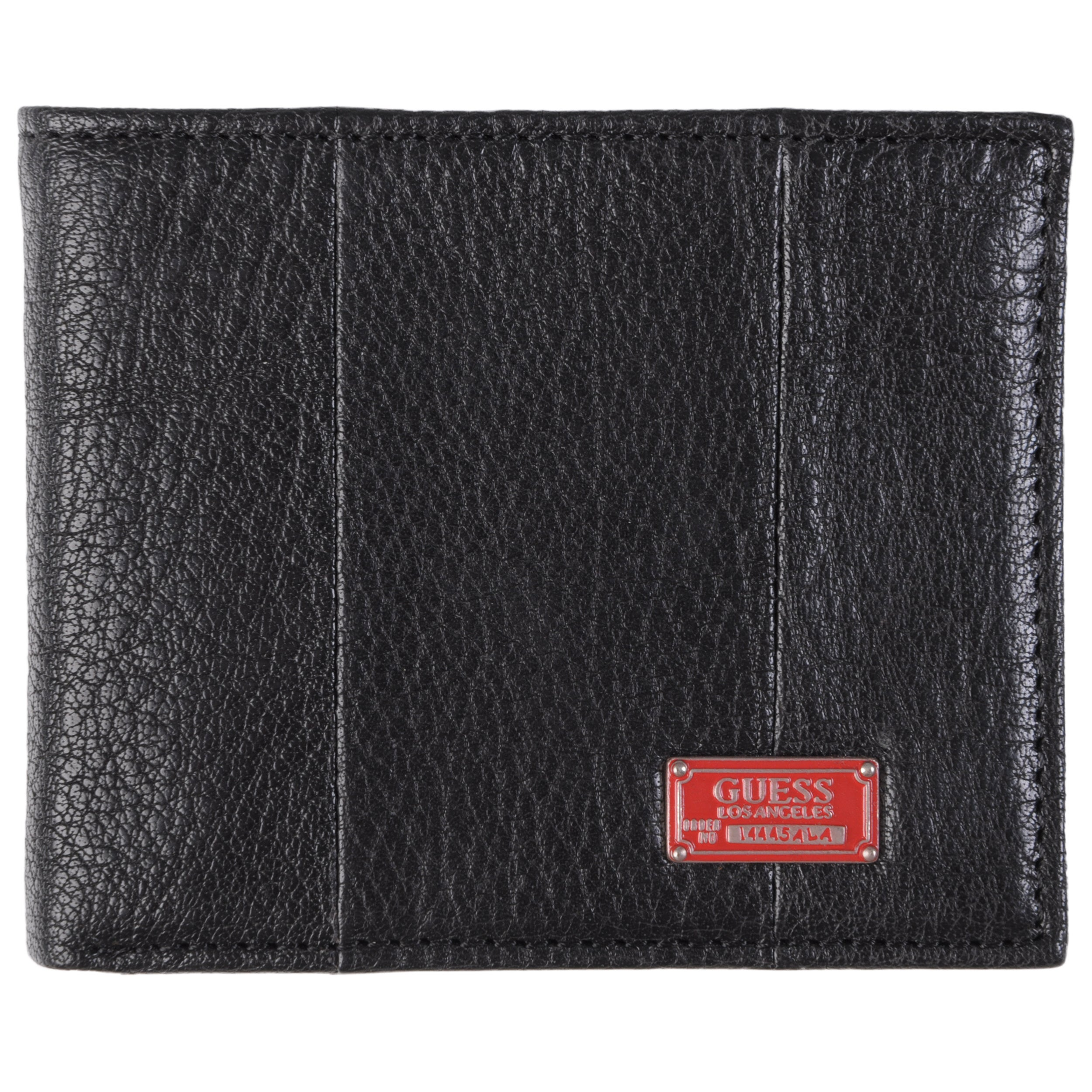 Guess Men's Genuine Leather Bifold Zipper Wallet