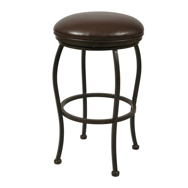 Shop Island Falls Swivel Backless Counter Stool Free