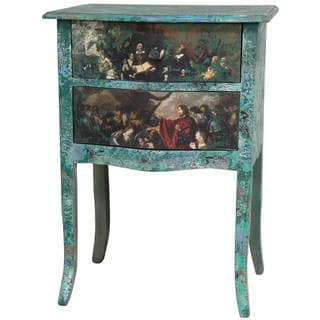 Distressed Gathering Two Drawer Night Stand (China)