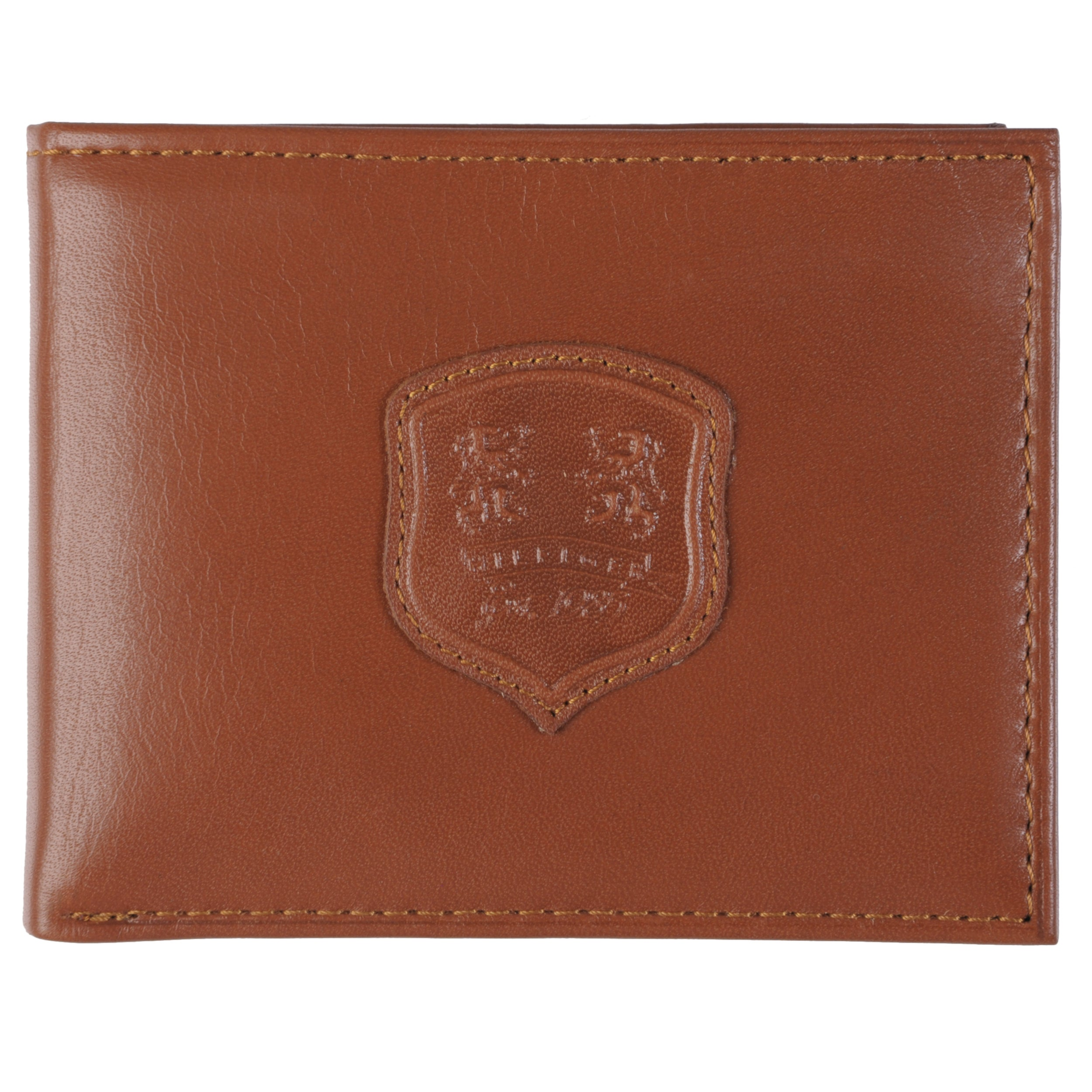 Tommy Hilfiger Men's Embossed Leather Bifold Passcase Wallet