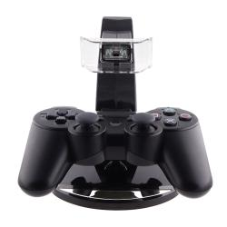 INSTEN Black Dual-charging station for Sony PlayStation 3 Controller - Thumbnail 2