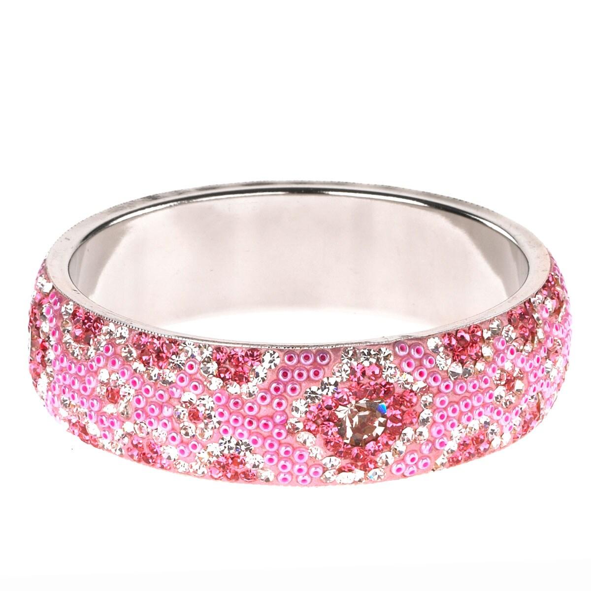 Saachi Pink Tone Austrian Crystal Bracelet (India)