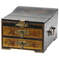 Handmade Oriental Home Small Jewelry Box with Mirror (China)