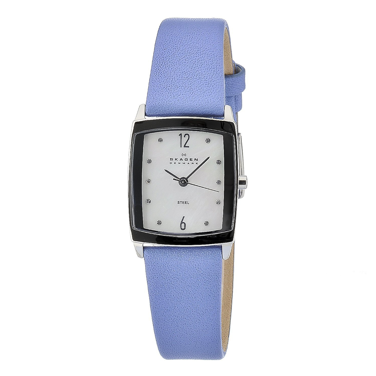 3de74dc63 Shop Skagen Women's Rectangular Leather Strap Watch - Free Shipping Today -  Overstock - 6706367