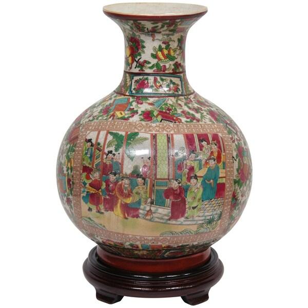 Oriental Home Porcelain 14-inch Rose Medallion Vase (China)