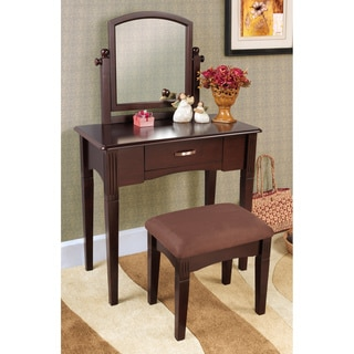 Espresso Finish Three-piece Vanity Set