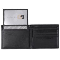 Geoffrey Beene Men's Textured Genuine Leather Bifold Passcase Wallet - Thumbnail 1