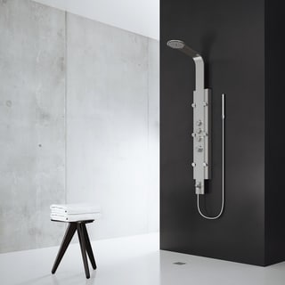 VIGO Shower Massage Panel System with Rain Shower Head plus Hand Shower & Tub Spout
