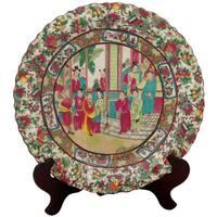 Handmade Porcelain 18-inch Rose Medallion Plate (China)