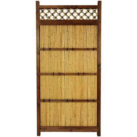 Handmade Japanese Bamboo 6x3' Zen Garden Fence