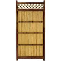 Handmade Japanese Bamboo 6x3-foot Zen Garden Fence (China)