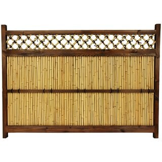 Japanese Bamboo 4x5.5-foot Zen Garden Fence (China)
