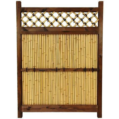 Handmade Japanese Bamboo Zen Garden Fence