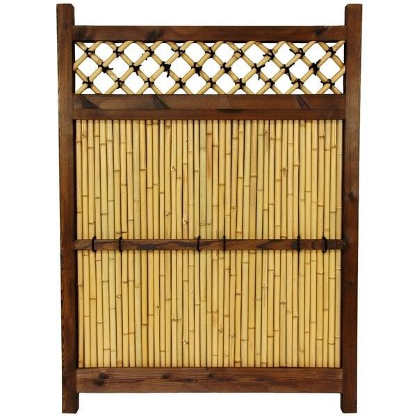 Japanese Bamboo 4x3-foot Zen Garden Fence (China)