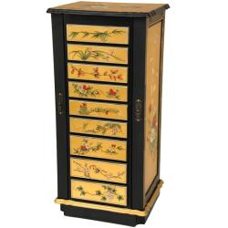 Gold Leaf Flowers Jewelry Cabinet (China)