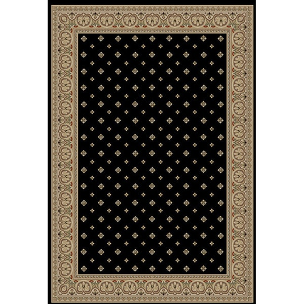 "Well Woven Dallas Formal Black Area Rug - 6'7"" x 9'6"""
