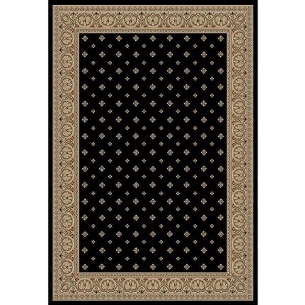 Dallas Formal Black Area Rug (3' 11 x 5' 3)