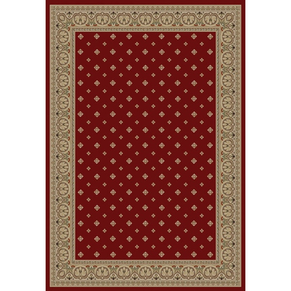 Well Woven Dallas Transitional Border Red Area Rug - 6'7 x 9'6