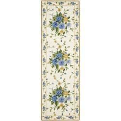Safavieh Hand-hooked Bouquet Ivory Wool Rug (2'6 x 10')