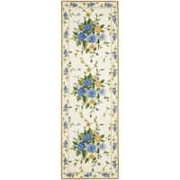 Safavieh Hand-hooked Bouquet Ivory Wool Rug (2'6 x 10') - 2'6 x 10'