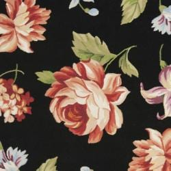 Safavieh Hand-hooked Botanical Black Wool Rug (5'3 x 8'3) - Thumbnail 2