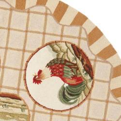 Safavieh Hand-hooked Rooster Beige Wool Rug (3' Round)