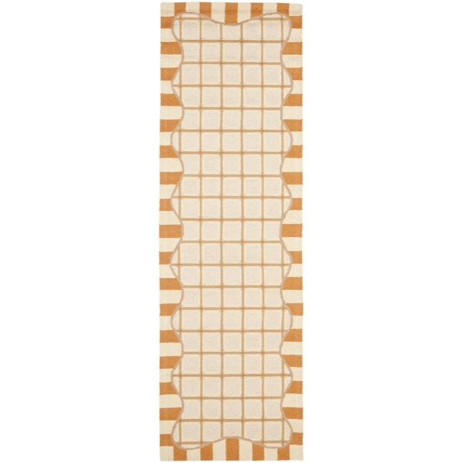 Safavieh Hand-hooked Chelsea Ivory/ Gold Wool Rug (2'6 x 10')