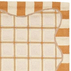 Safavieh Hand-hooked Chelsea Ivory/ Gold Wool Rug (2'6 x 10') - Thumbnail 1