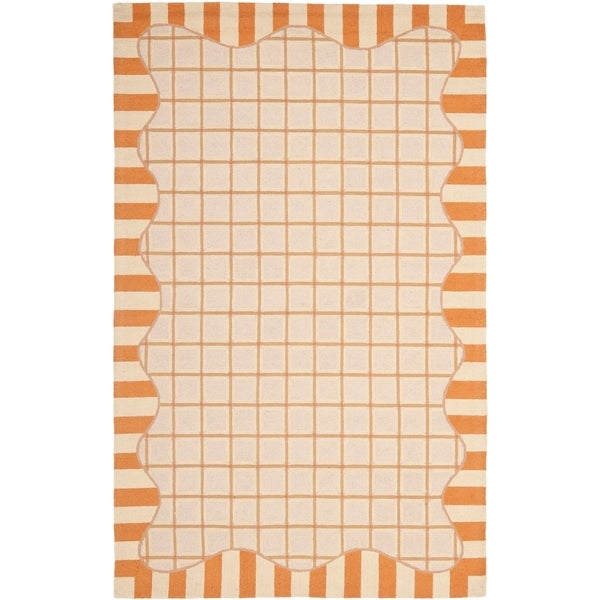 "Safavieh Hand-hooked Chelsea Ivory/ Gold Wool Rug - 7'-9"" x 9'-9"""