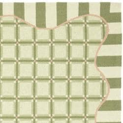 Safavieh Hand-hooked Chelsea Ivory/ Green Wool Rug (5'3 x 8'3) - Thumbnail 1