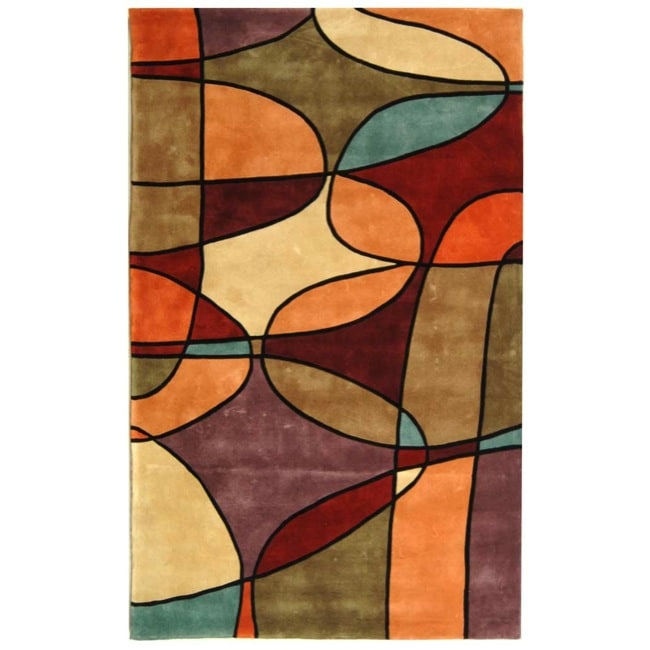 Safavieh Handmade Rodeo Drive Modern Abstract Multicolored Wool Rug (9'6 x 13'6)