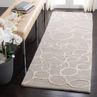 Safavieh Handmade Soho Loops Grey New Zealand Wool Rug - 6' X 6' Round