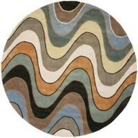 Safavieh Handmade Chatham Voyage Multi New Zealand Wool Rug - 7' x 7' Round