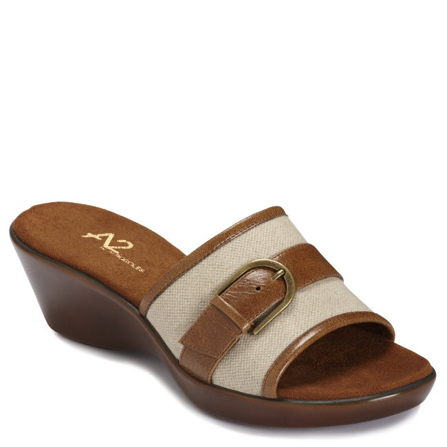 A2 by Aerosoles Women's 'Eyes On You' Canvas Wedge Slides