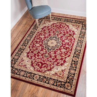 """Medallion Traditional Red Area Rug - 3'11"""" x 5'3"""""""