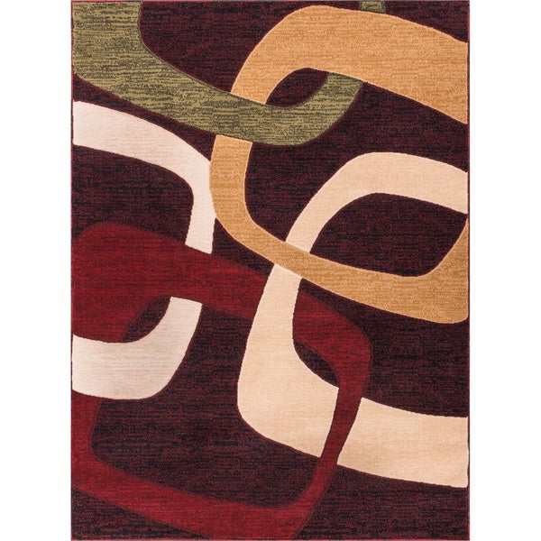 Squares Contemporary Multi Area Rug (3'3 x 5'3)