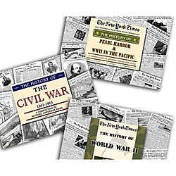 Collectible Newspaper Gift Set: Civil War, WW II, and Pearl Harbor History