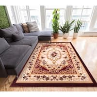 Well Woven Royal Medallion European French Floral Red Area Rug - 3'3 x 5'3