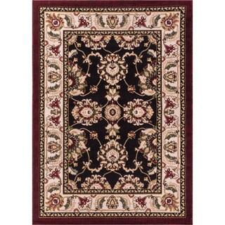 Antep Black/ Beige Oriental Rug (6'7 x 9'3)