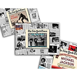 Collectible Newspaper Gift Set: Michael Jackson, Beatles, and Elvis
